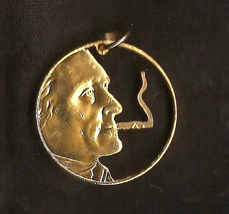 Smokin Tom Cut Coin - Marty's Jewelry